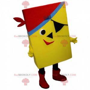 Yellow and rectangular pirate mascot - Redbrokoly.com