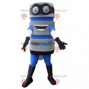Tool mascot with a cape. EasyTrust mascot - Redbrokoly.com