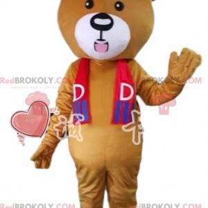 Medvěd hnědý maskot v sportovní oblečení. Medvědí kostým -