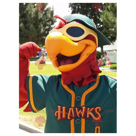 Giant red and yellow eagle mascot - Redbrokoly.com
