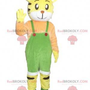 Gul tiger maskot. Tiger kostyme. Tiger kostyme - Redbrokoly.com