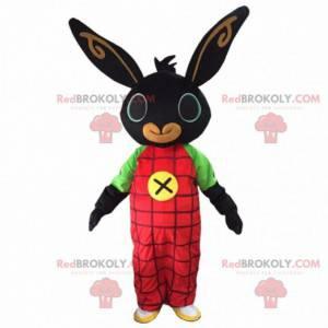 Králík maskot. Černý králík. Králičí kostým. Bunny kostým -