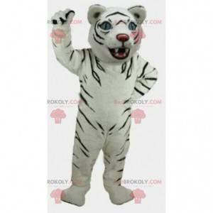 Maskottchen Tabby Katze. Weißes Tiger Kostüm. Tiger Cosplay -