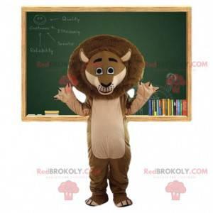 Brun løve maskot. Brun løvekostyme. Alex kostyme -