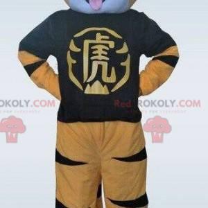 Yellow tiger mascot. Tiger costume. Tiger costume -
