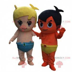 2 maskoti kostýmy pro kojence, děti. Dětské kostýmy -