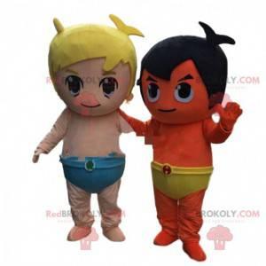 2 Maskottchen Kostüme für Babys, Kinder. Kinderkostüme -