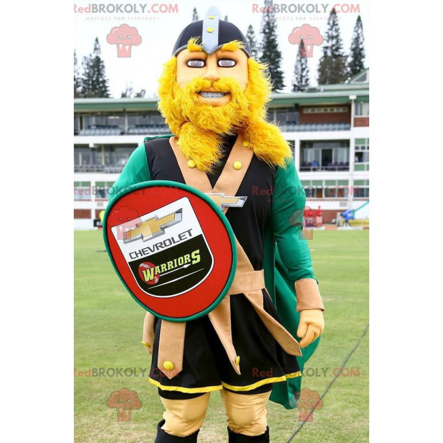 Blond Viking mascot with a shield - Redbrokoly.com