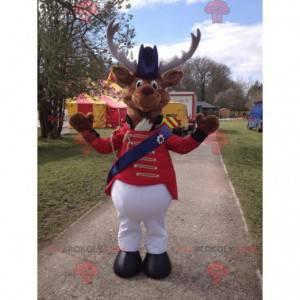 Caribou sobí maskot v cirkusovém kostýmu - Redbrokoly.com