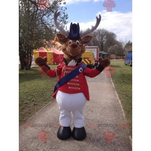 Karibu Rentier Maskottchen im Zirkus Kostüm - Redbrokoly.com