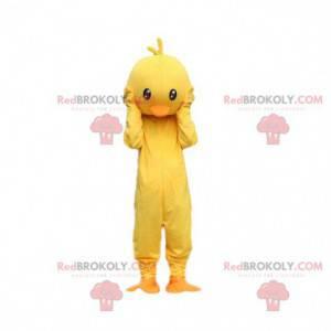Yellow and orange chick costume. Canary mascot costume -