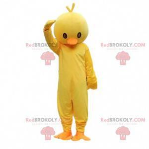 Žlutá a oranžová kočka maskot. Kanárský kostým - Redbrokoly.com