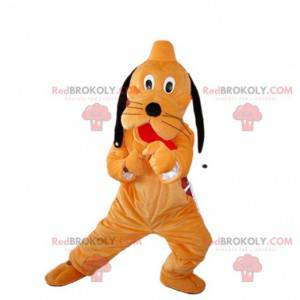 Mascot Pluto, beroemde hond oranje en zwart Walt Disney -