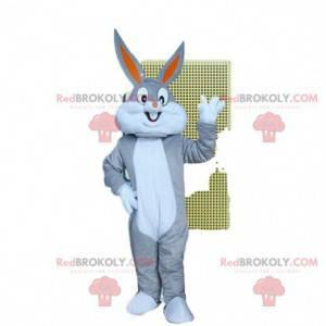 Mascot Bugs Bunny, coelhinho famoso do Loony Tunes. Fantasia de