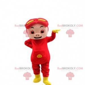 Baby pig mascot. Pig costume. Baby costume - Redbrokoly.com