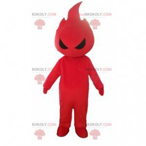 Red flame mascot, flame costume, fire disguise - Redbrokoly.com