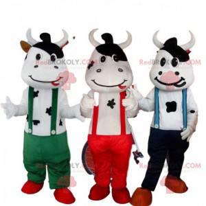 3 ku maskoter, ku kostymer, farm maskot - Redbrokoly.com