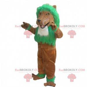 Maskot hnědý lev, kostým lva, kostým lva - Redbrokoly.com