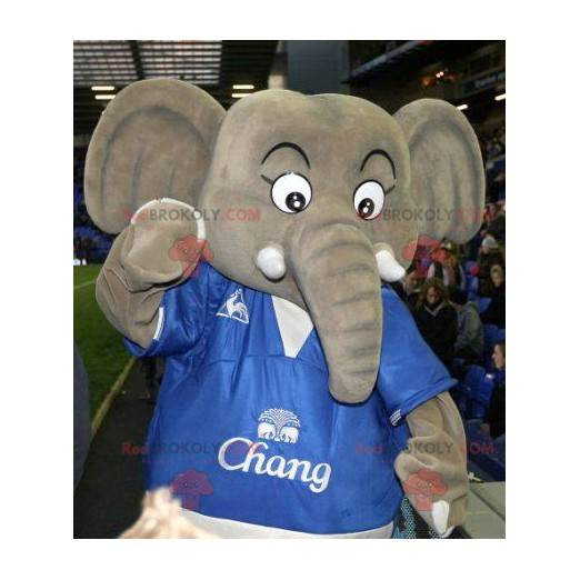 Big gray elephant mascot - Redbrokoly.com