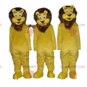 3 maskotki lwa, kostium kota, kostium dżungli - Redbrokoly.com