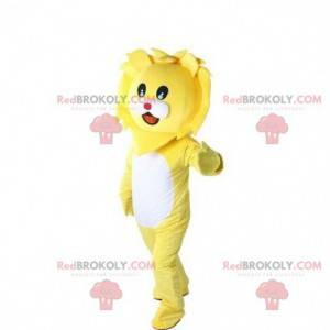 Gelbes Löwenmaskottchen, Löwenkostüm, Löwenbabykostüm -