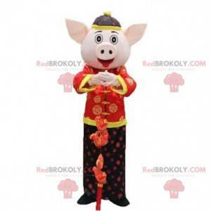 Asiatisk grisemaskott, asiatisk kostyme, sådrakt -