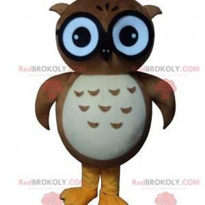 Maskotka sowa, sowa, brązowy kostium sowy - Redbrokoly.com