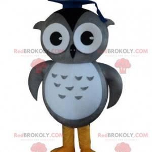 Stor gråugle maskot, ugle kostyme, utdannet - Redbrokoly.com