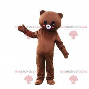 Romantic teddy bear mascot, romantic costume, teddy bear -