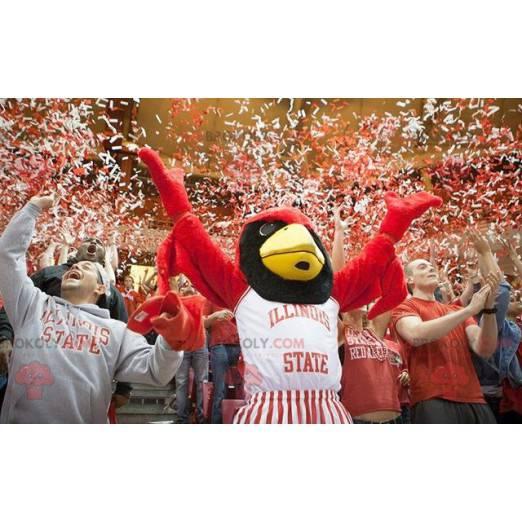 Obří červený a černý orel maskot - Redbrokoly.com