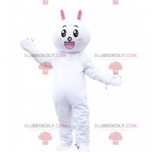 Maskot králíka, kostým plyšového zajíčka. Obří plyš -