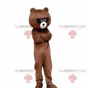 Teddy bear costume with dark glasses, bear costume -