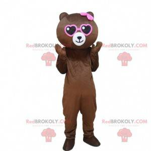 Teddybär Maskottchen, rosa Bärenkostüm, Bärenkostüm -