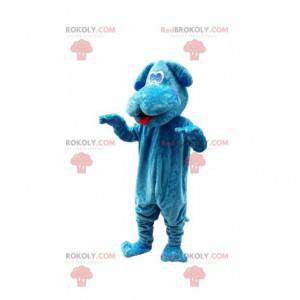 Hundemaskottchen, Hundekostüm, blaue Tierverkleidung -