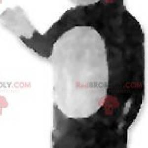 Maskot černé a bílé sobů - Redbrokoly.com