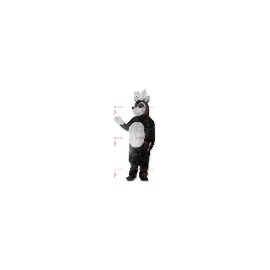 Czarno-biała maskotka renifera - Redbrokoly.com