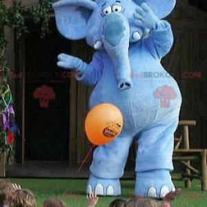 Giant blue elephant mascot - Redbrokoly.com