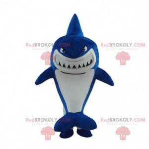 Maskotka niebieski rekin, kostium rekina, przebranie morza -