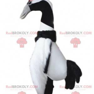 Large black and white bird mascot, bird costume - Redbrokoly.com