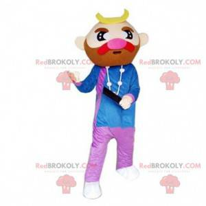 Maskot knír, vousatý kostým, dřevorubec - Redbrokoly.com