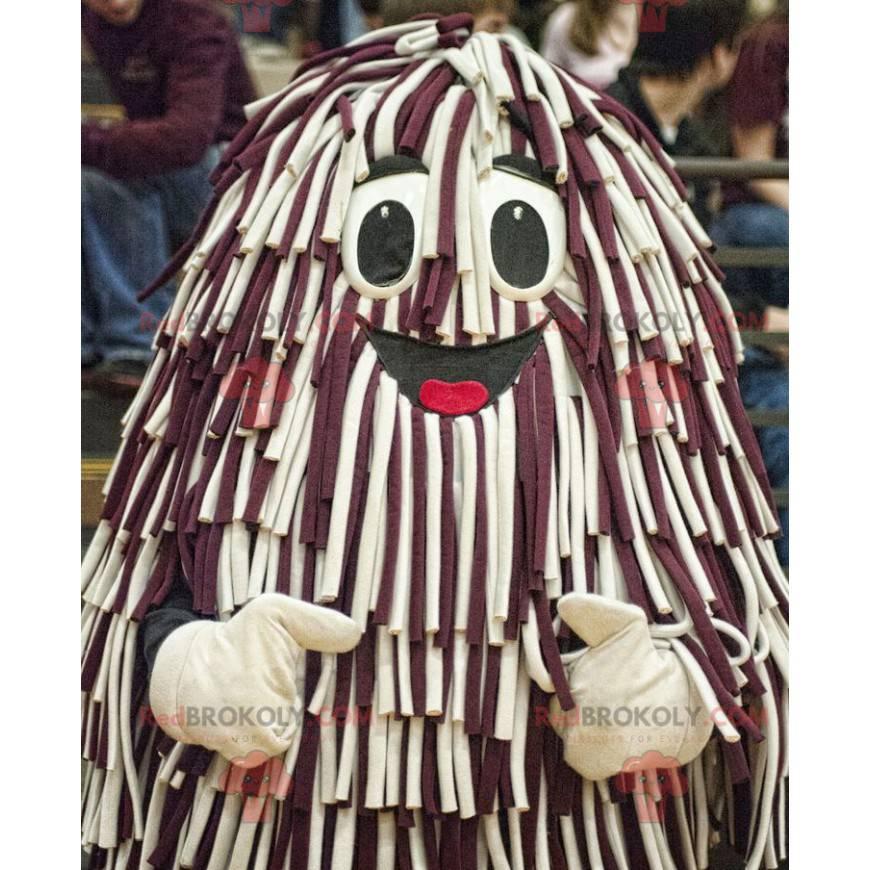 Mascot hairy and smiling - Redbrokoly.com