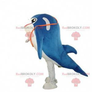 Dolphin mascot, fish costume, whale costume - Redbrokoly.com
