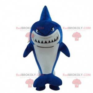Maskot modrý žralok, kostým žraloka, převlek moře -