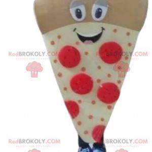 Maskott av pizzaskive, pizzadrakt, pizzabruddrakt -