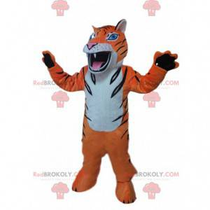 Ostra maskotka tygrysa, kostium kota, przebranie pręgowanej -