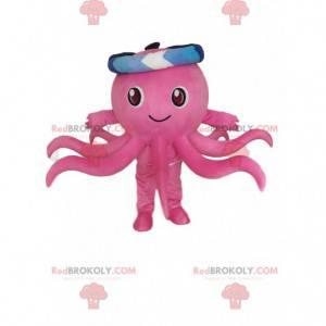 Maskottchen rosa Tintenfisch, Tintenfischkostüm, Seemannskostüm