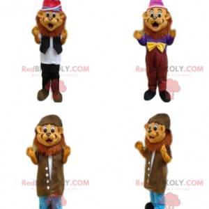 4 lion mascots, tiger costumes, feline costumes - Redbrokoly.com