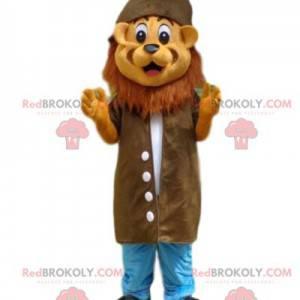 Maskot lva, kostým průzkumníka, kostým dobrodruha -