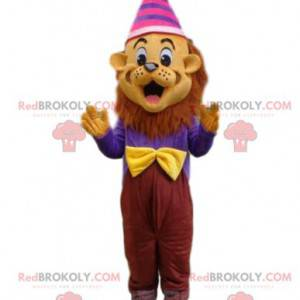 Festive lion mascot, colorful tiger costume - Redbrokoly.com