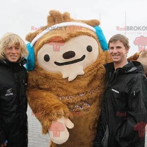 Vancouver mascot Quatchi brown yeti mascot - Redbrokoly.com